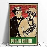 DNJKSA Public Enemy Musik Sänger Poster Hip Hop Rap Musik