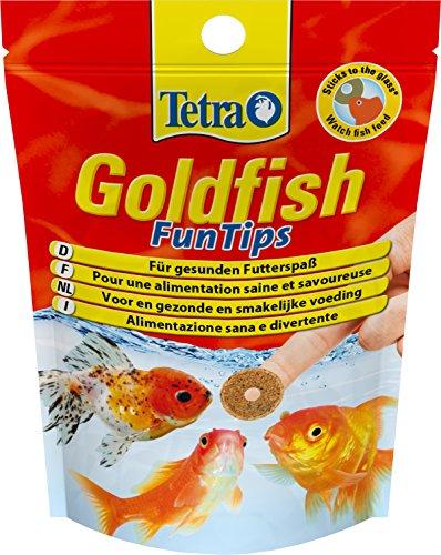Tetra Goldfish FunTips, Biologisch ausgewogene Haft-Futtertabletten für Goldfische, 20 Tabletten