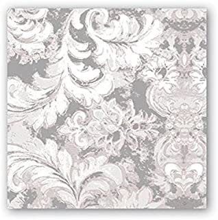 Michel Design Works 20 Count 3-Ply Paper Cocktail Napkins, Earl Grey