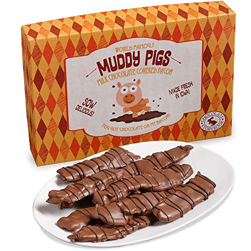 Chocolate Covered Bacon 'Muddy Pigs' Gift Box 12 oz.