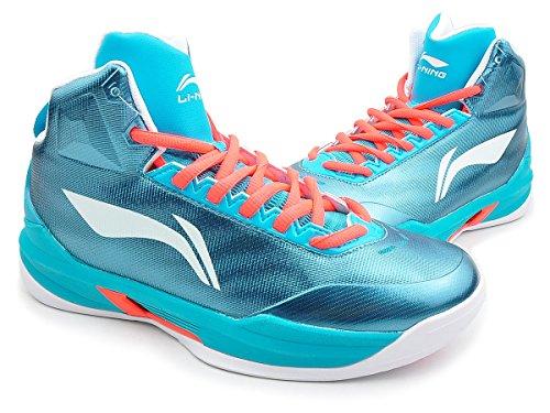 Li Ning Chaussures de basket-ball métalliques Bleu - Bleu - bleu métallique, 38 2/3 EU