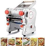 750W 110V Maker elettrico per pasta per spaghetti in acciaio inox macchina a rulli per la casa ristorante commerciale - coltello larghezza 180mm, widtle larghezza 3mm / 9mm