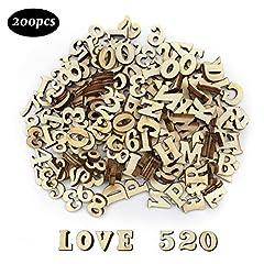 Dylan-EU 200 Stück Hölzerne Großbuchstaben