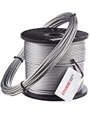 Seilwerk STANKE Cuerda de Acero 1,5mm 1x19 Galvanizada Cuerda para Silvicultura Cuerda de Chigres y Elevación