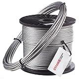 Seilwerk STANKE 25m 10mm 6x37 Cuerda de Acero Galvanizada DIN Cuerda para Silvicultura Cuerda de Chigres y Elevación