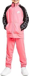 Nike Swoosh Tape Tricot - Chándal para niña, color rosa, 36G343-A8F