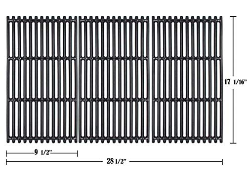 Hongso 17 1/16' Porcelain Coated Cast Iron Grates (Upgrade)for Charbroil Commercial Tru Infrared 463242716, 466242715,463242715, 466242815,G533-0009-W1, Lowe's 606682, Walmart 555179228, 3-Pack,PCB004