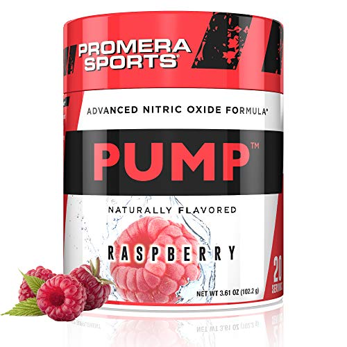 Promera Sports Pump Advanced Nitric Oxide Formula, Naturally Flavored, Gluten Free, Sugar Free, Easy to Take, Long Lasting Effects for Full Workout, 20 Servings, 3.65 Ounces, Raspberry
