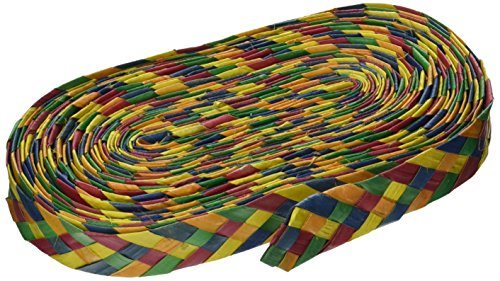 "Planet Pleasures Rainbow Shredders Straight Ribbon Bird Toy, 30' L by 1"" W"