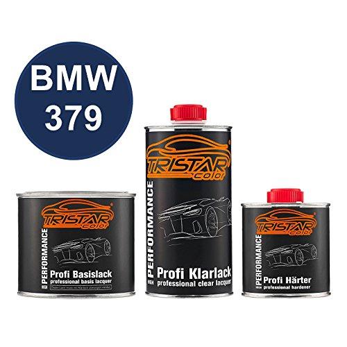 TRISTARcolor Autolack Set Dose spritzfertig für BMW 379 Velvet Blue Metallic Basislack + 2K Klarlack 1,25L