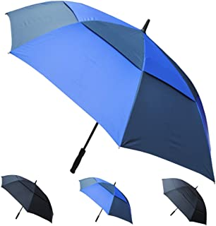 COLLAR AND CUFFS LONDON - 60in Arc Windproof 60MPH EXTRA STRONG Golf Umbrella