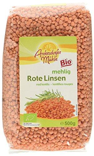 Antersdorfer Mühle Rote Linsen, 6er Pack (6 x 500 g) - Bio