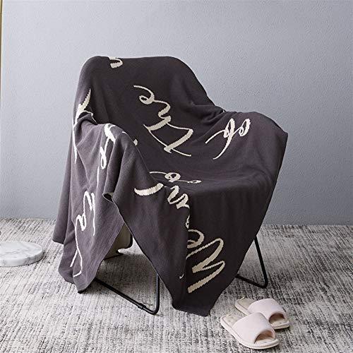 Jun7L Knit della Coperta del tiro di Cotone Lavorato a Maglia Solido tiro Coperta Molle Eccellente a Mano Warm Divano Divano-Letto della Decorazione della casa (Color : A, Size : 160X260cm)