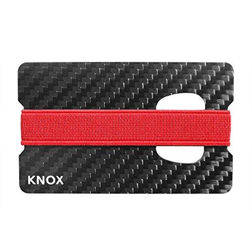 Knox Carbon Fiber Money Clip Wallet for Men, Card Holder With Bottle Opener RFID Blocking, 2 single card wallets