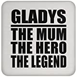 Gladys The Mum The Hero The Legend - Drink Coaster ドリンクコースター - 誕生日 クリスマス プレゼント