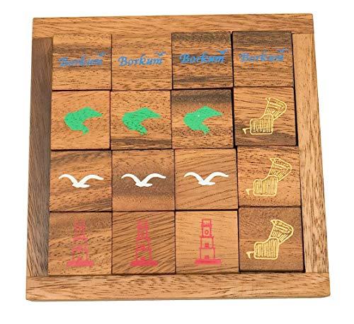 ROMBOL Borkum Puzzle, eines der schwierigsten Legepuzzle der Welt, Holzspiel, Denkspiel, Knobelspiel, Geduldspiel aus Holz