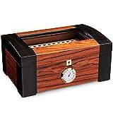 Humidor de cigarros de escritorio, caja de cigarros templados con...