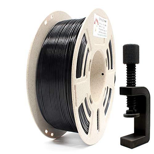 RepRapper 1kg PETG 3Dプリンターフィラメント ブラック 1.75mm + 印刷ビルド表面 + ノズル洗浄針