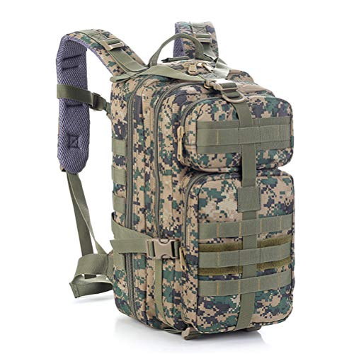 Outdoor Backpack Military Large Capacity Assault Waterproof Sport Survival Rucksack Multifunction for Men And Women Travelling Camping Trekking Hiking Hunting 30L,B