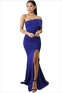583aea82 Vestido de dama de honor fiesta de baile de las se Mujeres fuera del hombro  Vestido