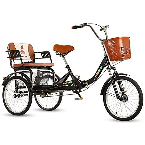 Triciclo para Adultos 1 Velocidad 1 Velocidad Tamaño Crucero Bicicleta Triciclo Plegable...