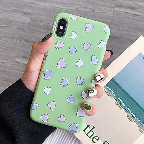 ZFLL Funda para teléfono móvil Funda para Funda para teléfono para iPhone X XR XS MAX 7 8 6 6s Plus 5 5s SE Crisantemo Floral Suave TPU Funda de Silicona para iPhone 7-5226G