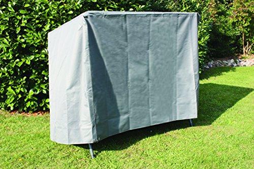 Siena Garden Hochwertige XXL Schutzhülle, aus starkem 600 D Oxford Polyestergewebe innen zusätzlich PVC beschichtet in anthrazit für eine Gartenschaukel, 270 x 150 cm, 135 cm Höhe, Gap 40 54 79