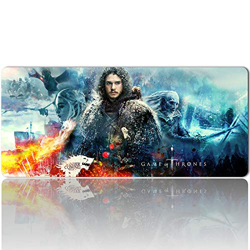 802993 - Mouse Pad Keyboard Pad Game of Thrones Gaming Large Table Mats (35.4×15.7 in / 90x40 cm) Support Customized,Extended Mouse Mats Non-Slip Spill-Resistant Desk Pads