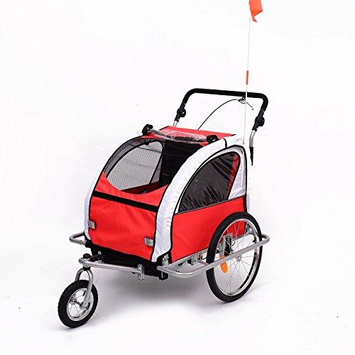 Aosom Elite II 3in1 Double Child Bike Trailer, Stroller & Jogger -...