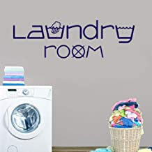 Fifikoj Wall Sticker Laundry Room Symbols Waterproof l Wall Decals Home Decor Wall Stickers On The Wall for Laundry Room Bathroom42x15cm