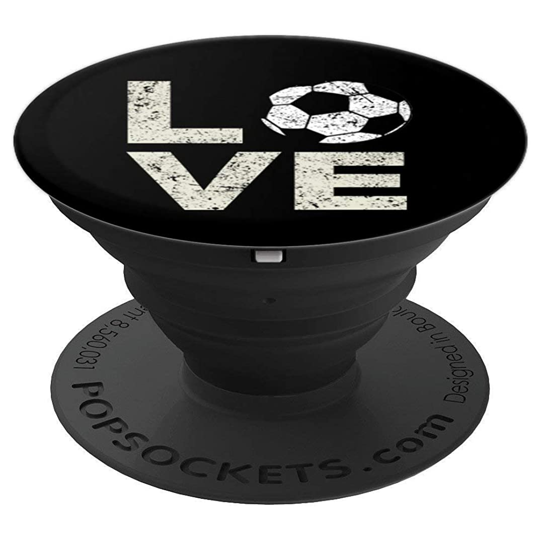 Soccer LOVE Pop Socket Player Christmas Birthday Gift - PopSockets Grip and Stand for Phones and Tablets