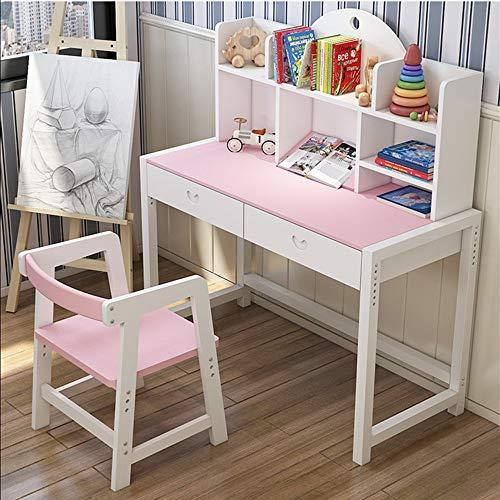 Wenzhihua Table Chaise Enfant Lift-Top for Enfants Bureau et Chaise étude de l'élève Poste de Travail Informatique Grand Cadeau for Les Filles et Les garçons (Couleur : Rose, Taille : 100X50X75CM)
