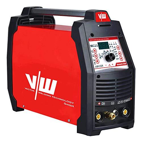 Vector Kombi Inverter Schweißgerät AC/DC WIG TIG Puls mit 200 Ampere Stahl/Edelstahl/ALU Schweißen + 50 Ampere Plasmaschneider HF-Zündung Elektroden Schweißmaschine Inverter Welder - New York 2500