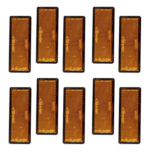 H HILABEE Orange Klar Rechteckiger Reflektor X10 Anhänger Zaun Torpfosten Selbstklebend