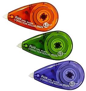 KLEIN UND HANDLICH: Die handliche Größe des Korrekturroller Mini eignet sich ideal zum Verstauen in der Tasche, dem Stifte-Etui oder in der Federmappe. Klassische Form einer Korrekturmaus. FEHLER EINFACH ÜBERSCHREIBEN: Das Korrekturband hat eine ergi...