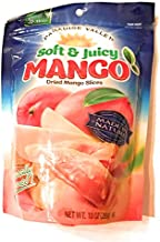 Paradise Valley Low Sugar Dried Mango Slices, Soft & Juicy Dried Mangoes 10 Ounce Bag