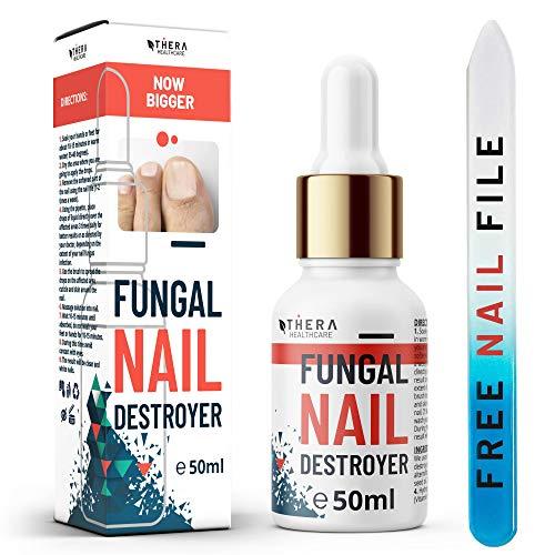 Prima Tratamiento de hongos para las uñas Fungal Nail Destroyer, Apto para Hongos Uñas Pies y Manos | Contiene Aceite del Arbol de Te y Aceite de Argán | 30ml | Lima y Cepillo de Uñas Gratis.