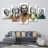 AMOHart Impresiones de la Lona Arte de la Pared Pintura Abstracta 5 Piezas Joker...