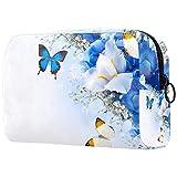 Bolsa Maquillaje Almacenamiento organización Artículos tocador cosméticos Estuche portátil Flores Mariposa hortensias Irises para Viajes Aire Libre