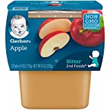 Gerber 2nd Foods Apples, 4 oz Tubs, 2 Count (Pack of 8)