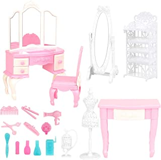 BARWA Dollhouse Furniture and Accessories Playset 18 Pcs...