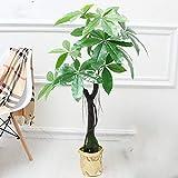 no brand Llzpl Nordique Plante Artificielle Riche Mangrove bonsaï décoration d'intérieur Vert Artificiel Faux Plante Artificielle bonsaï Arbre 1.1 m avec Pot