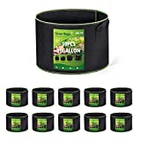 Delxo 10-Pack 10 Gallon Grow Bags Heavy Duty Aeration Fabric Pots...