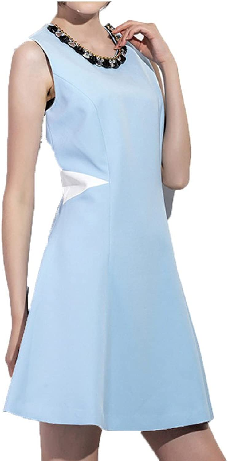 Spring And Summer Fashion Sleeveless Women's A Dress