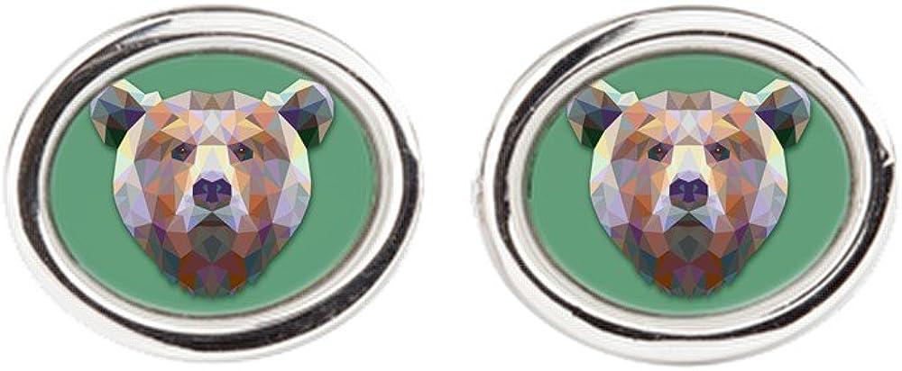 Royal Lion Cufflinks (Oval) Triangle Bear
