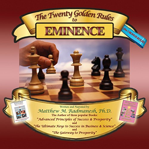 The Twenty Golden Rules to Eminence audiobook cover art