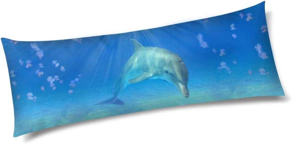 InterestPrint 4 years warranty Sleeping Popularity Dolphin Animal Case Zippered Pillow Body