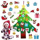 Joyibay Árbol de Navidad de Fieltro Árbol de Navidad de Bricolaje Artificial con...