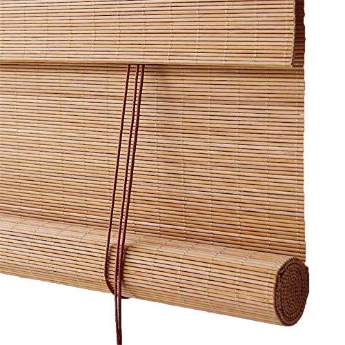 CORTINA Persianas enrollables de Madera, persianas venecianas de bambú fáciles de Instalar, aptas para Habitaciones Interiores y Exteriores de Salas de Estar (Tamaño : 120x160cm)