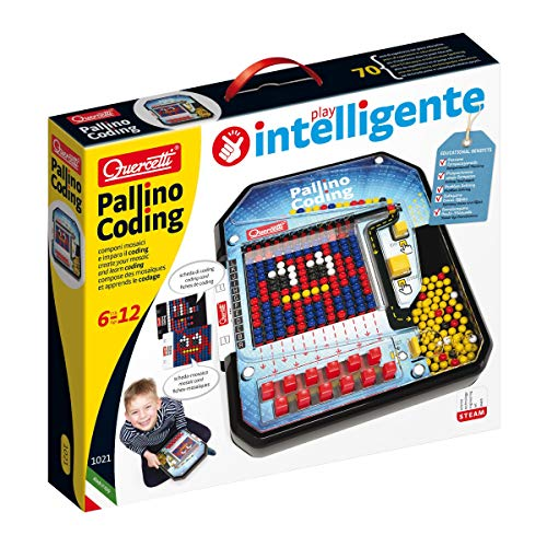 Quercetti - Pallino Coding - Educational Mosaic Game to Introduce Logic and Beginner Programming Skills, for Kids Ages 6 +
